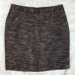 🔆Ann Taylor LOFT Colorful Boucle Skirt